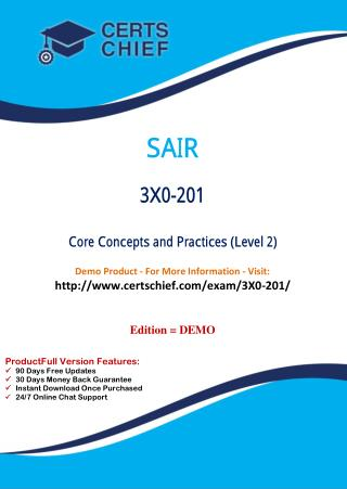 3X0-201 Latest Certification Practice Test