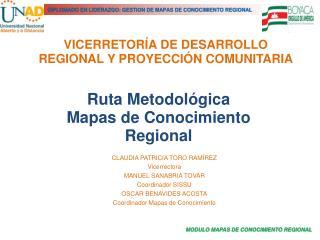 VICERRETOR A DE DESARROLLO REGIONAL Y PROYECCI N COMUNITARIA
