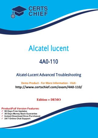 4A0-110 Education Certification Test