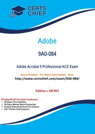 9A0-084 Education Certification Test