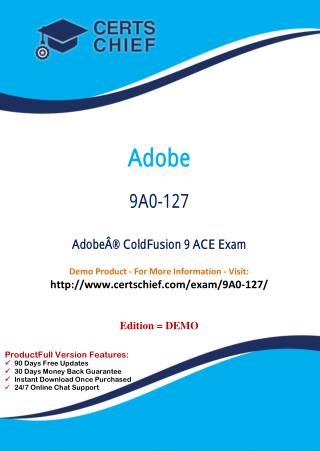 9A0-127 Education Certification Test