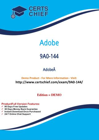 9A0-144 IT Certification Program
