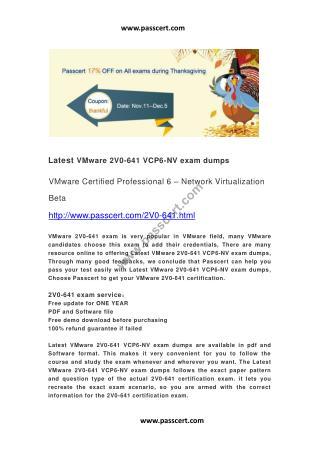 VMware 2V0-641 VCP6-NV exam dumps
