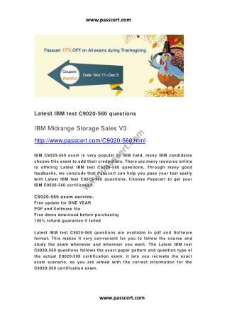 IBM test C9020-560 questions