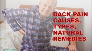 Back Pain – Causes, Types and Natural Remedies