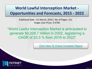 World Lawful Interception Market Opportunities & Growth 2022