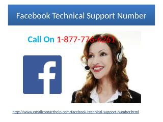 Facebook Technical Support Number @1-877-776-6261 In the Quickest Possible Way, With Us.