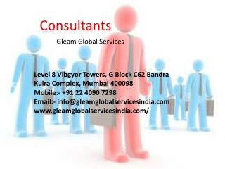 Gleam Global Services – Business Consultants