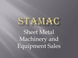 STAMAC - Maintaining Industrial Equipments