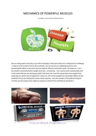 Critical Bench Pdf program 2.0- Powerful Muscles