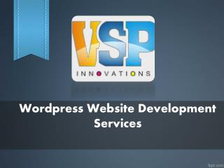 Wordpress Website Development Vijayawada, Web Development Companies Vijayawada – VSP Innovations