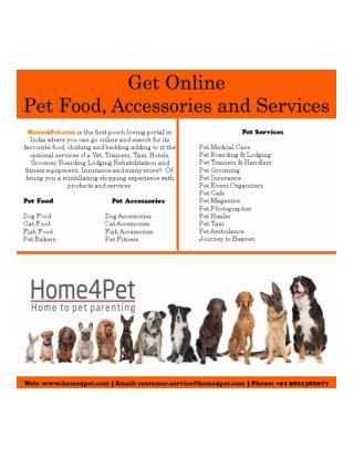 Pet Food, Accessories and Services @ home4pet