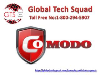 Comodo Antivirus Support Call Toll free 1-800-294-5907