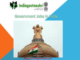 Govt jobs in rajasthan- Indiagovtnaukri.com- India Govt Naukri- Online test- jobs in bihar.pptx