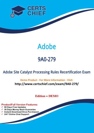 9A0-279 Professional Certification Test