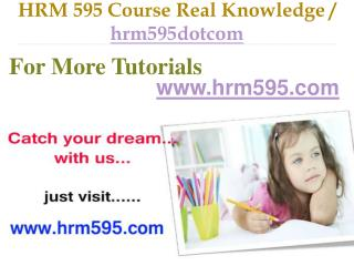 HRM 595 Course Real Tradition,Real Success / hrm595dotcom