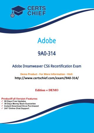 9A0-314 Professional Certification Test