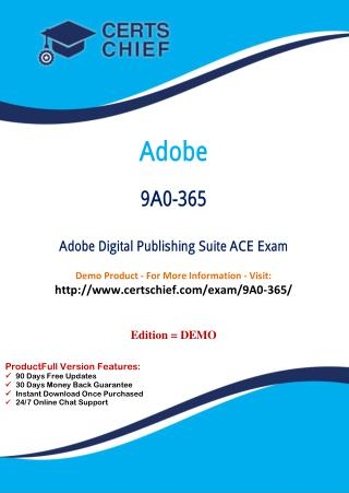 9A0-365 Professional Certification Test