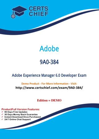 9A0-384 Professional Certification Test
