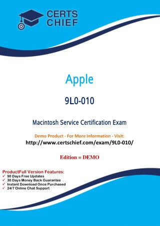 9L0-010 Professional Certification Test