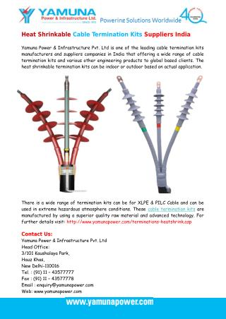 Heat Shrinkable Cable Termination Kits