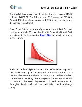 Today's Updates on Nifty, Gold and Crude Oil