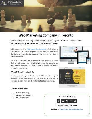 Web Marketing Company in Toronto