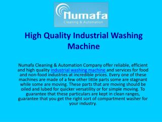 High Quality Industrial Washing Machine