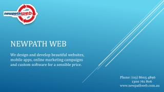 Social Media Marketing and Website Development Services Provided by Newpath WEB