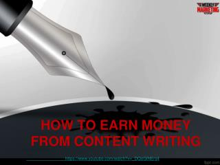 Ways to earn money from content writing