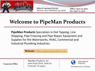 Hot Tapping Machine - Pipe Man Products