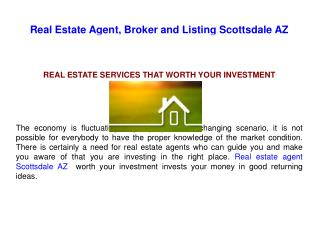 Real Estate Agent and Listing Scottsdale AZ