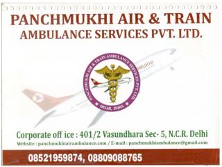 Panchmukhi Air and Train Ambulance Services from Delhi