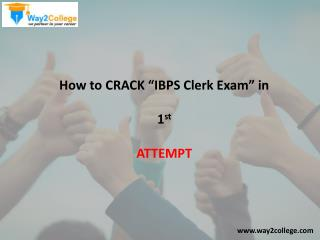 How to crack ibps clerk in 1st attempt