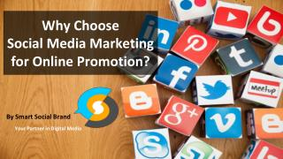 Why Choose  Social Media Marketing for Online Promotion