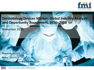 Dermatology Devices Market Estimated to be Valued at US$ 5,307.6 Mn by 2026