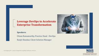 Webinar - Leverage DevOps to Accelerate Enterprise Transformation