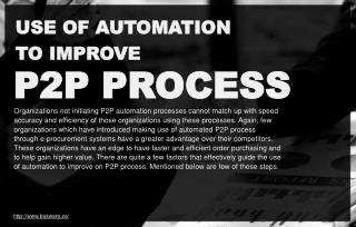 Use of automation to improve P2P process