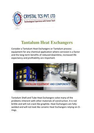 Tantalum Heat Exchangers