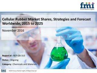 Cellular Rubber Market Value Share, Supply Demand, share and Value Chain 2015-2025