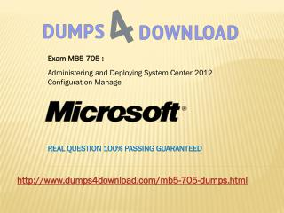 New MB5-705 Exam Dumps with PDF File Download