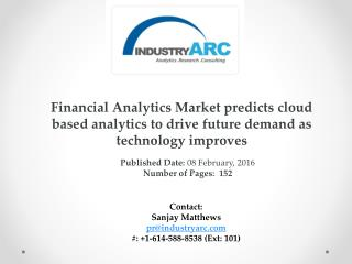 Financial Analytics Market: North America expected to continue market dominance till 2021