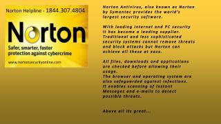 NORTON ANTIVIRUS HELPLINE @ i8443074804