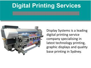 Digital Printing Services - Australia