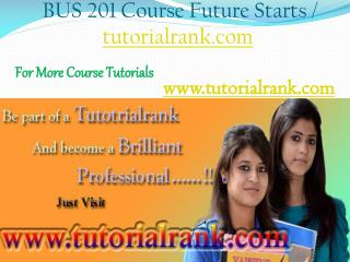 BUS 201 Course Experience Tradition / tutorialrank.com