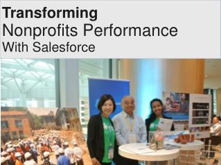 Salesforce For Nonprofits- Transforming Nonprofit's Performance