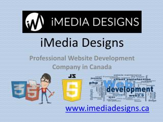 Professional Website Development Company in Canada - iMedia Design