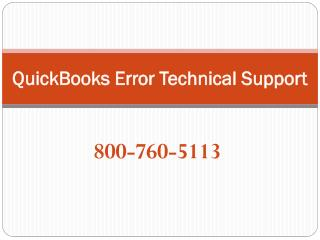 800-760-5113 – QuickBooks Errors technical Support Services