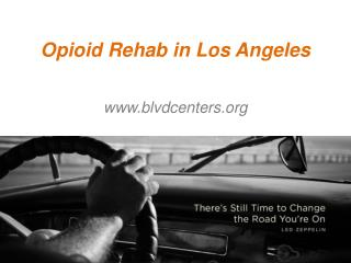 Opioid Rehab in Los Angeles - www.blvdcenters.org