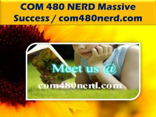 COM 480 NERD Massive Success / com480nerd.com